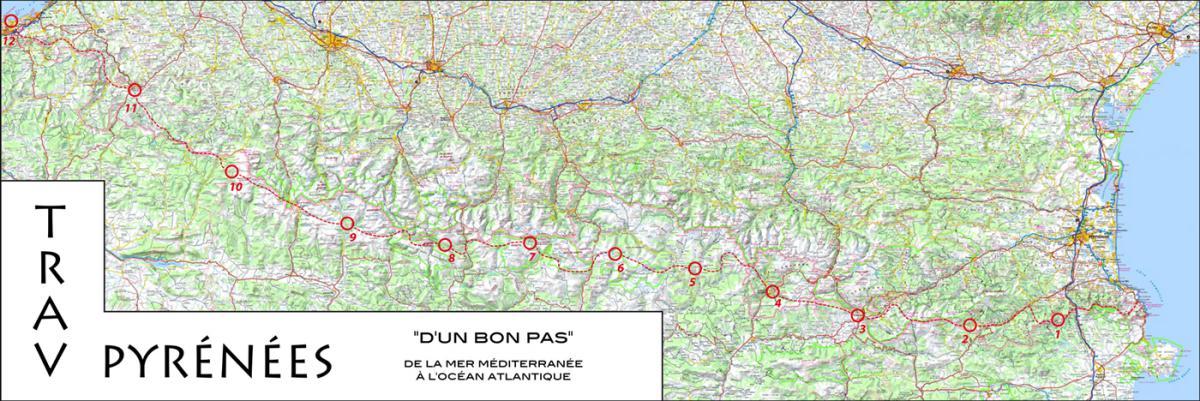 carte traversée des pyrénées à vélo Traversée Pyrénées Trail Rémi Thivel Septembre 2018 Infos